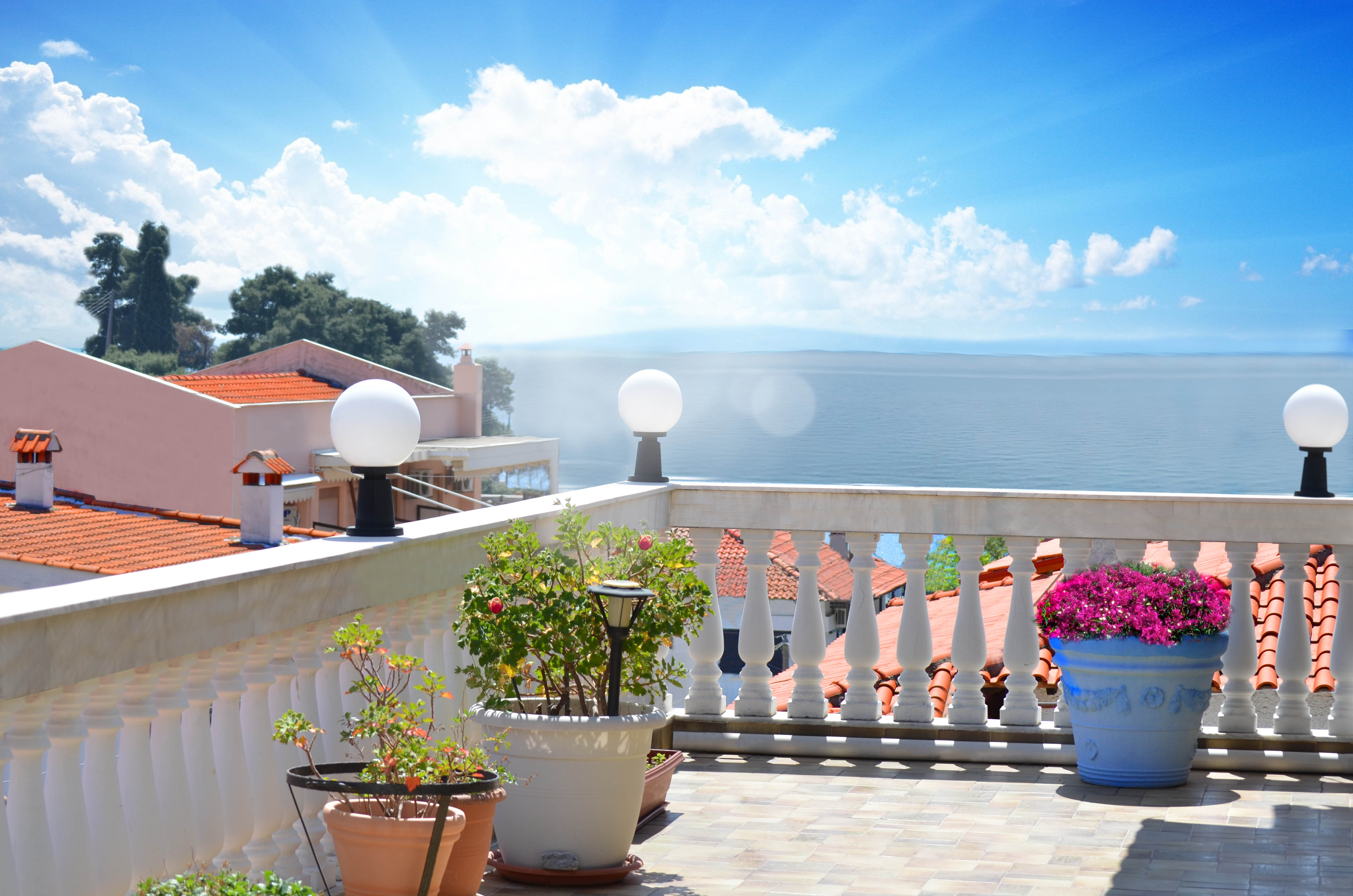 Veranda Seaview - House Capetanios Apartments Rooms to let Neos Marmaras Halkidiki Greece